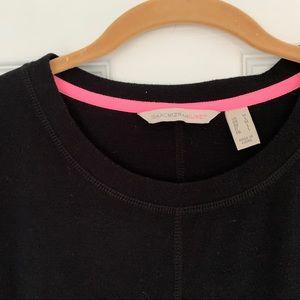 Black short sleeved blouse